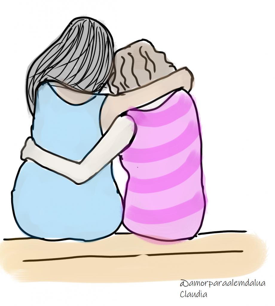 apoio, suporte, contar a amigos e familiares